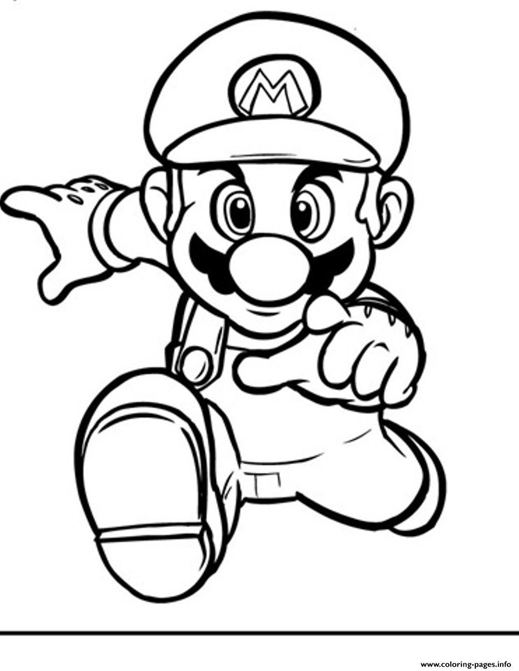 Print Running Mario Bros S2394 Coloring Pages | Mario