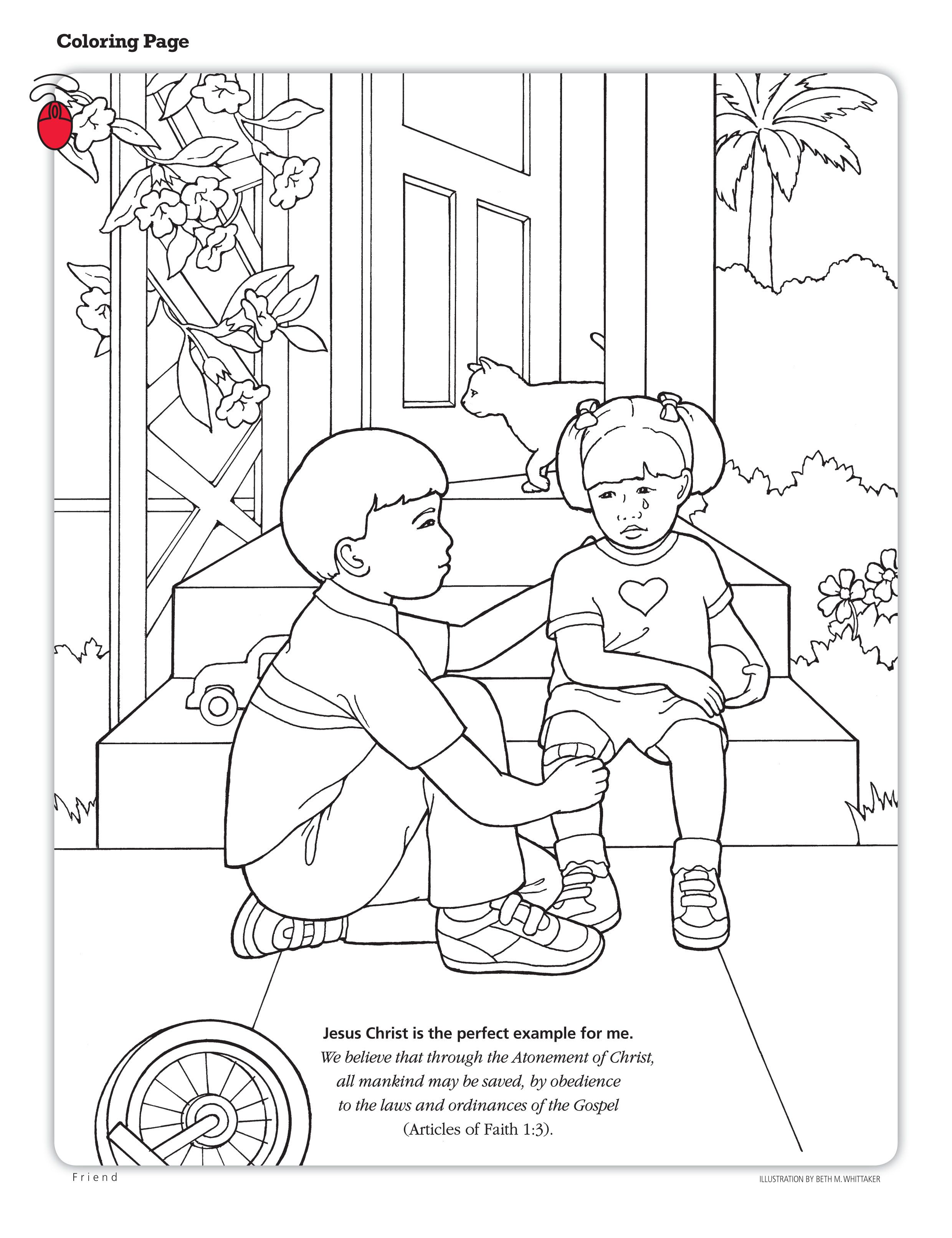 Coloring Page About The Atonement   Lesson 22: The Atonement