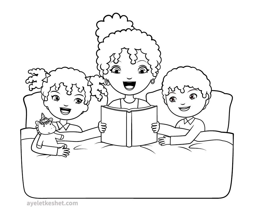 Free Coloring Pages About Family That You Can Print Out For