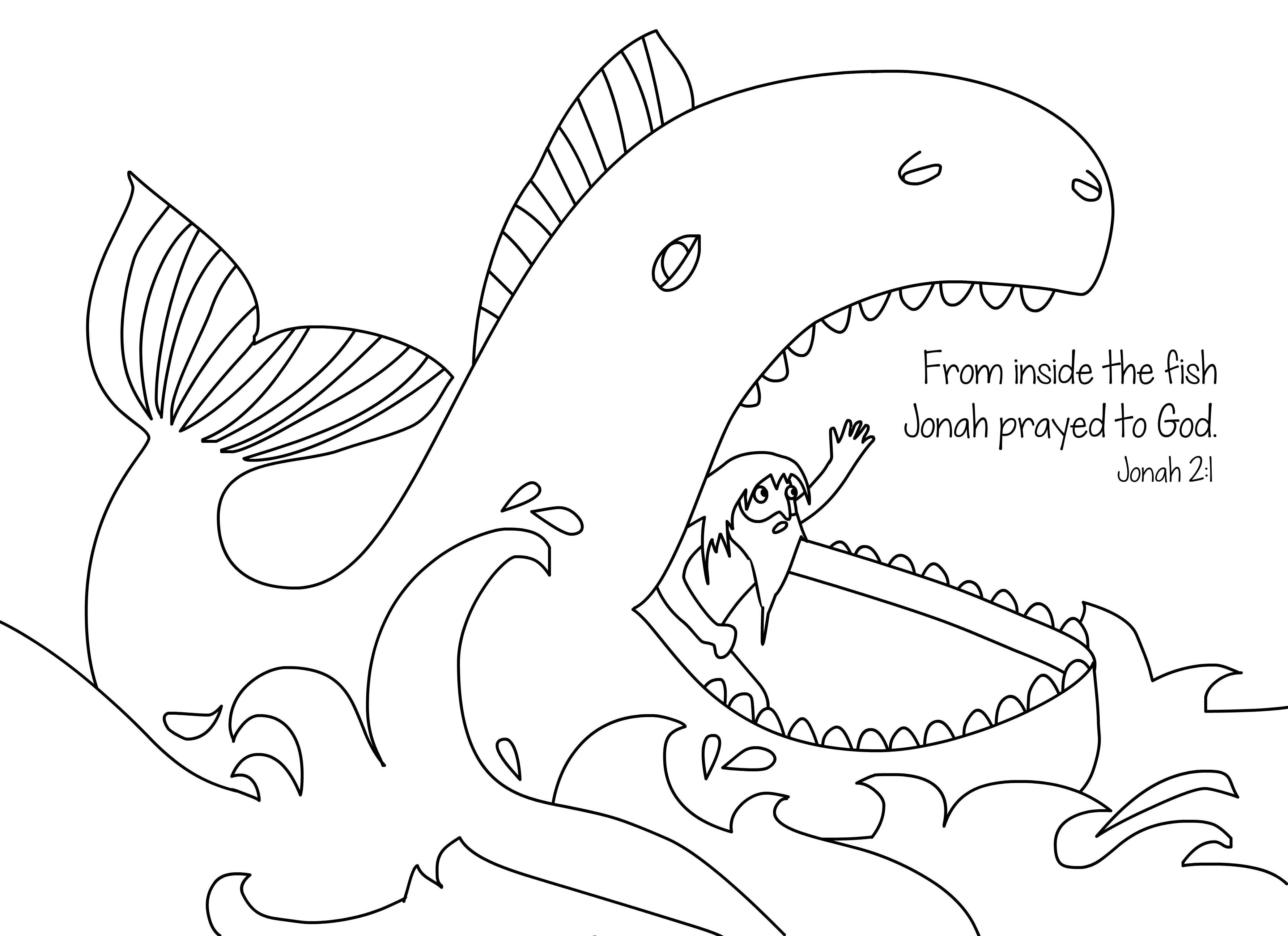 Jonah Coloring Page Free Download   Christian Coloring Pages