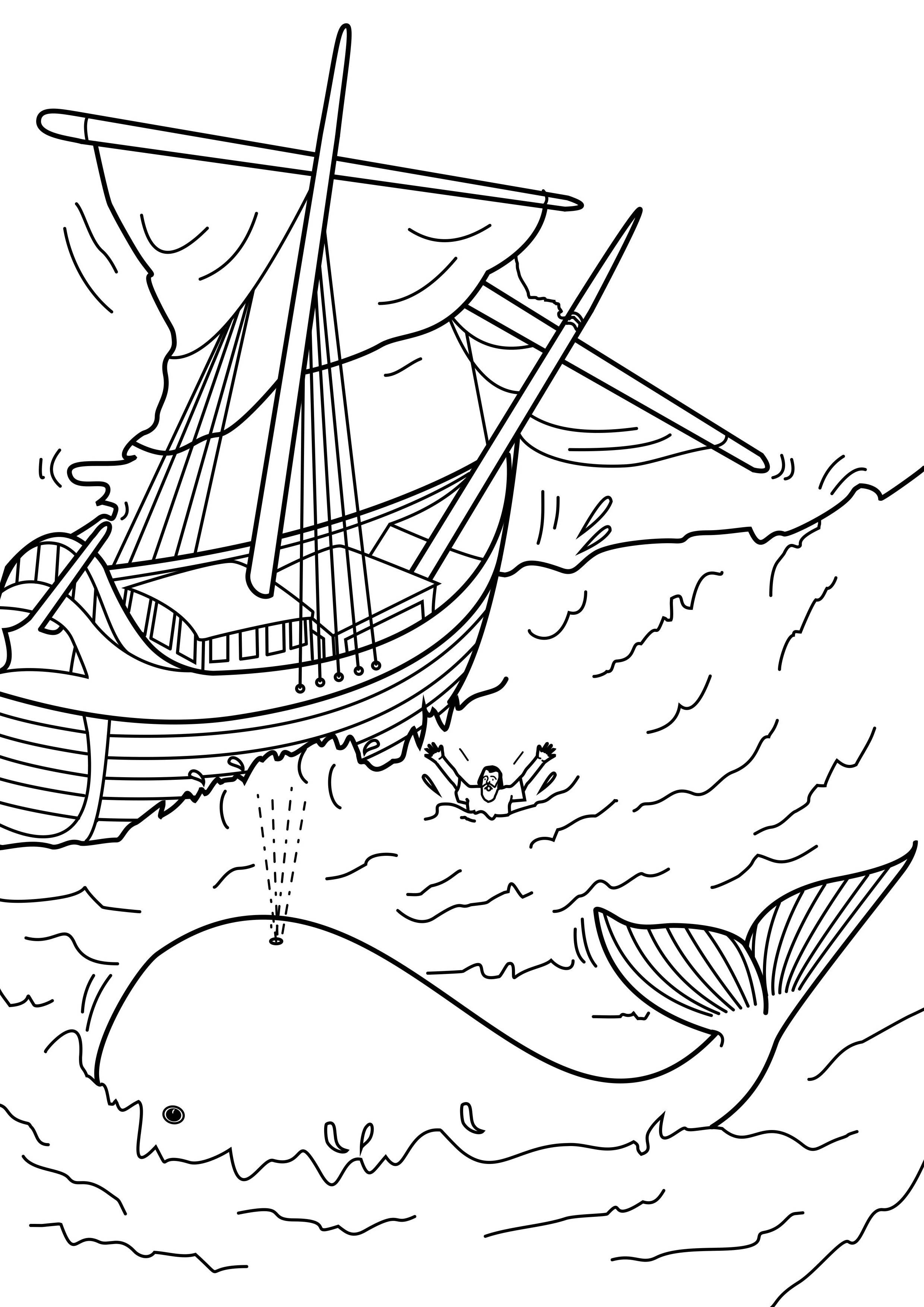 Jonah Coloring Page | Ccd Coloring Sheets | Sunday School