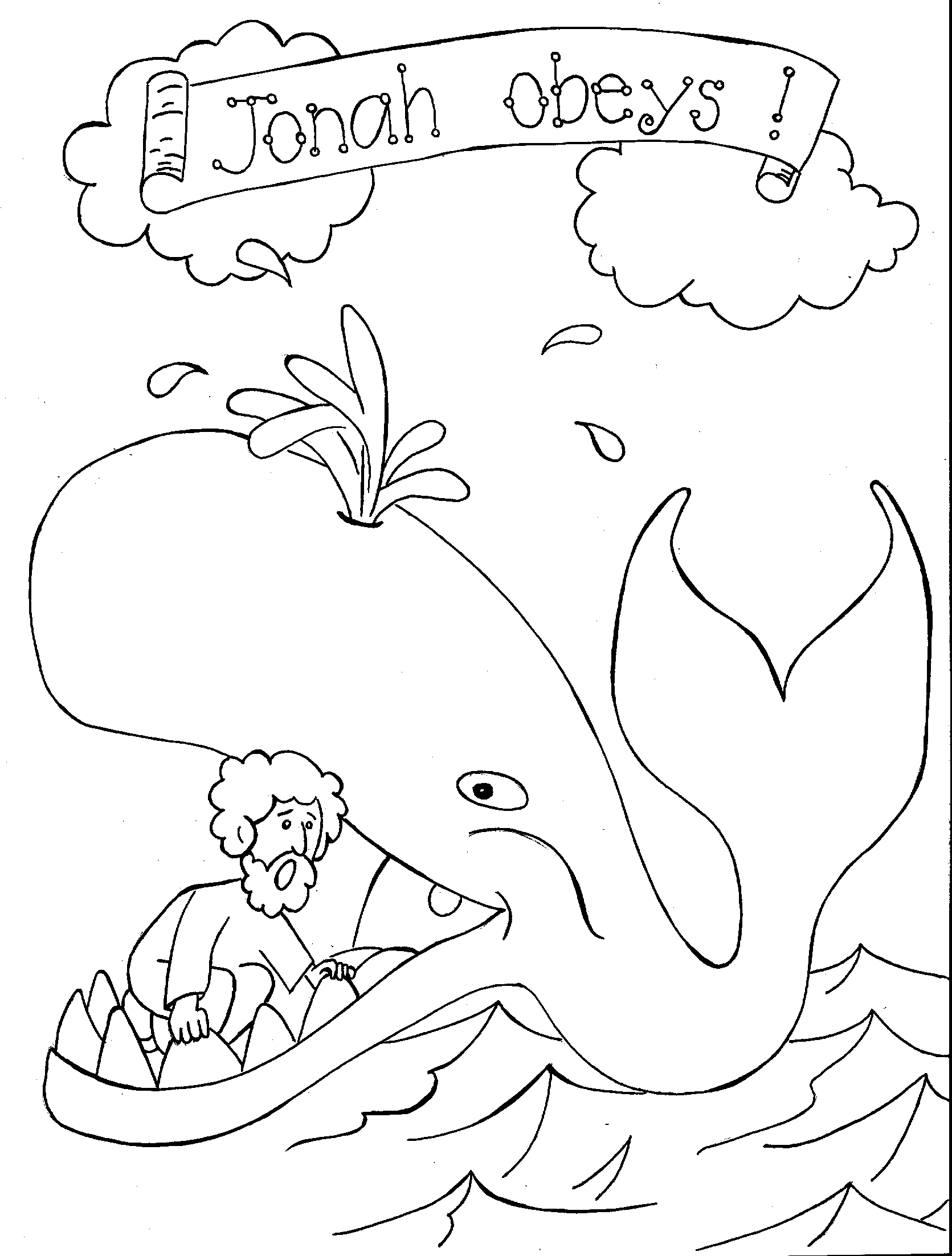 Jonah-and-the-whale-coloring-page-3 | Craft Ideas | Sunday