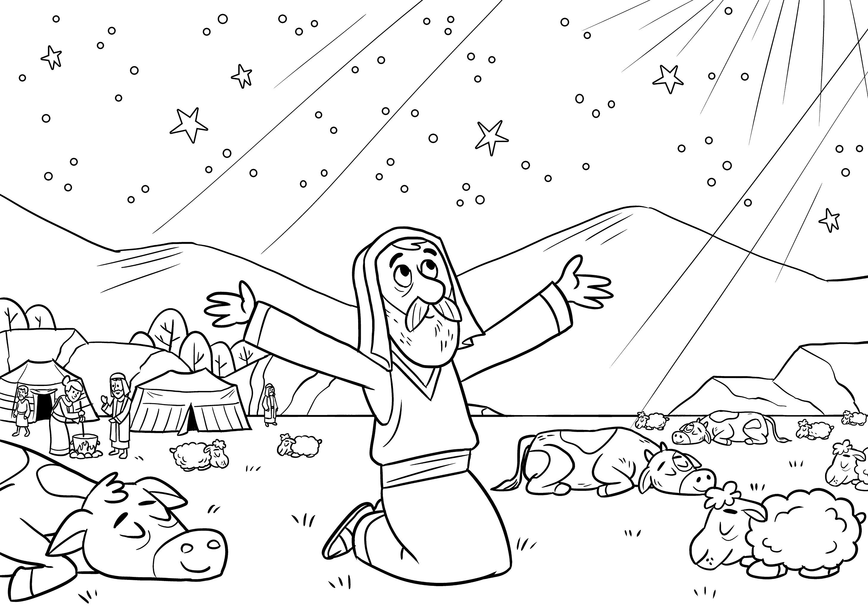 Abraham Coloring Page   Sunday School   Bible Coloring Pages