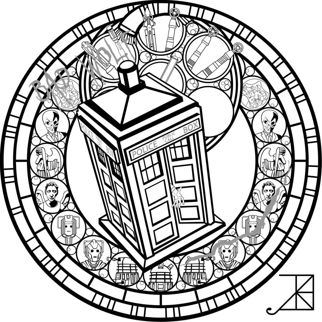 Doctor Who Sg -line Art- By Akili-amethyst | Adult Coloring