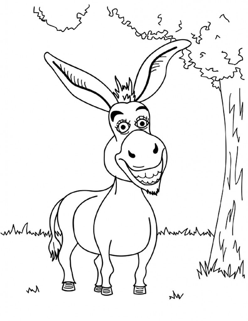 Free Printable Donkey Coloring Pages For Kids | Animal