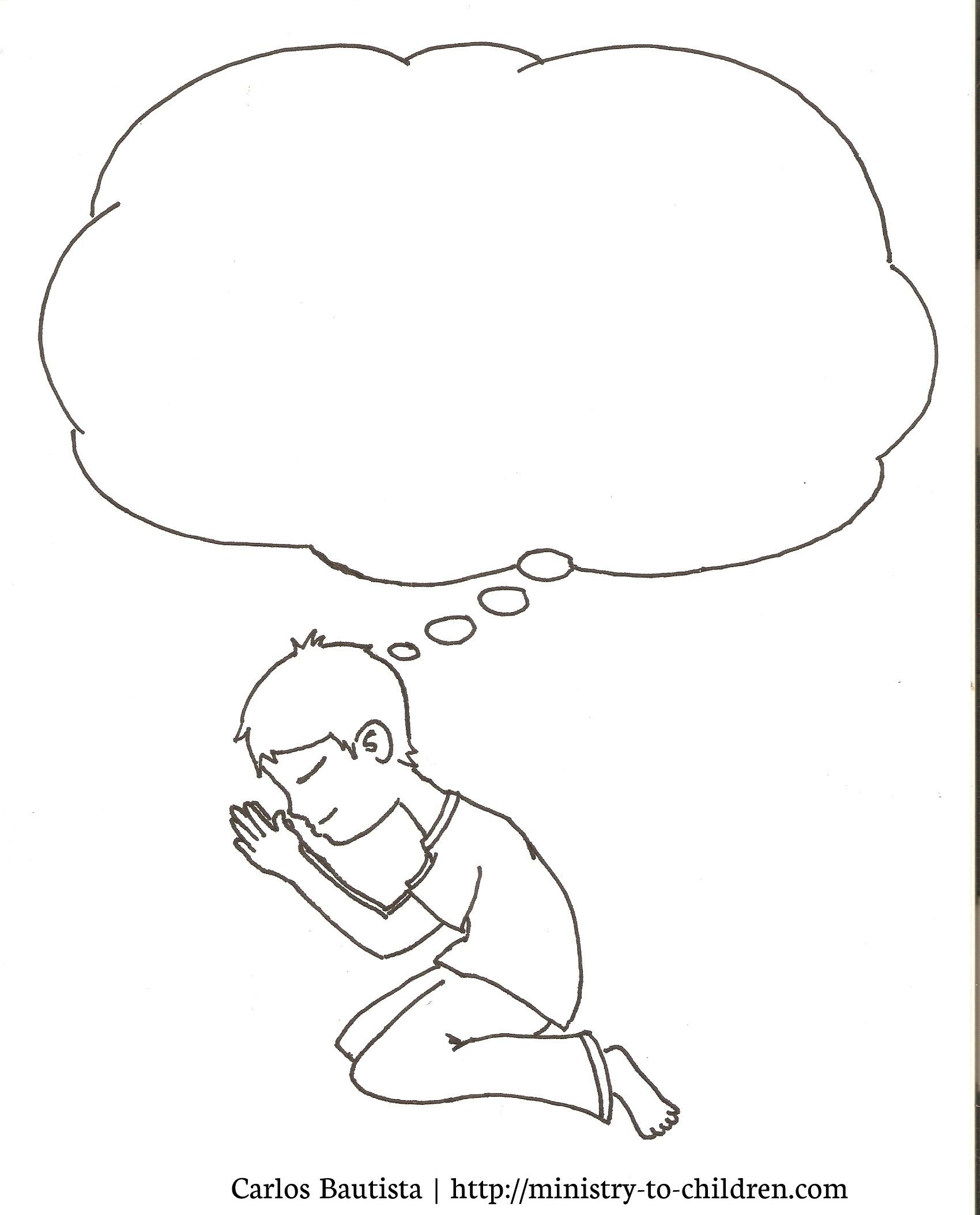 Prayer Coloring Pages For Kids (free Printable Pictures
