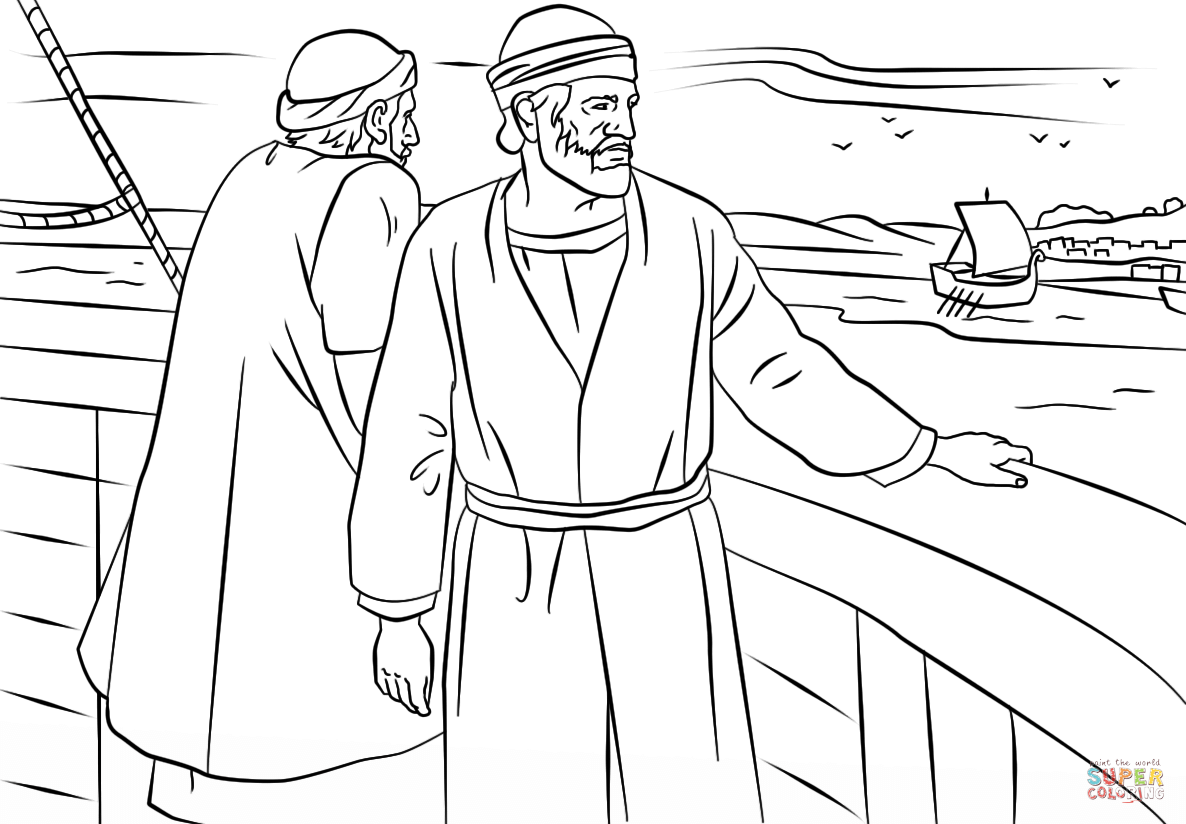 Paul And Barnabas Missionary Journey Coloring Page From Paul