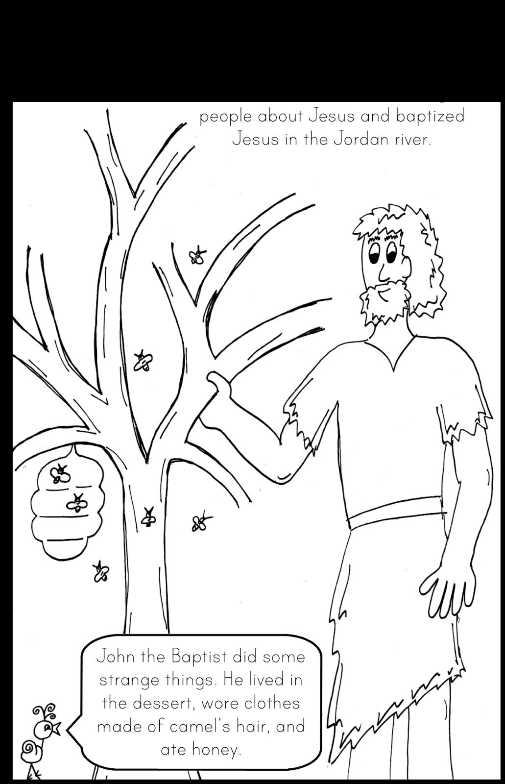 Saint John The Baptist Coloring Page | John The Baptist
