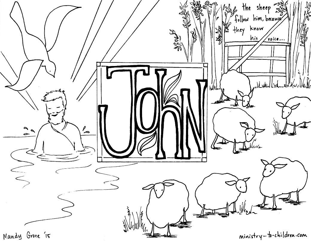 This Free Coloring Page Is Based On The Gospel Of John It's