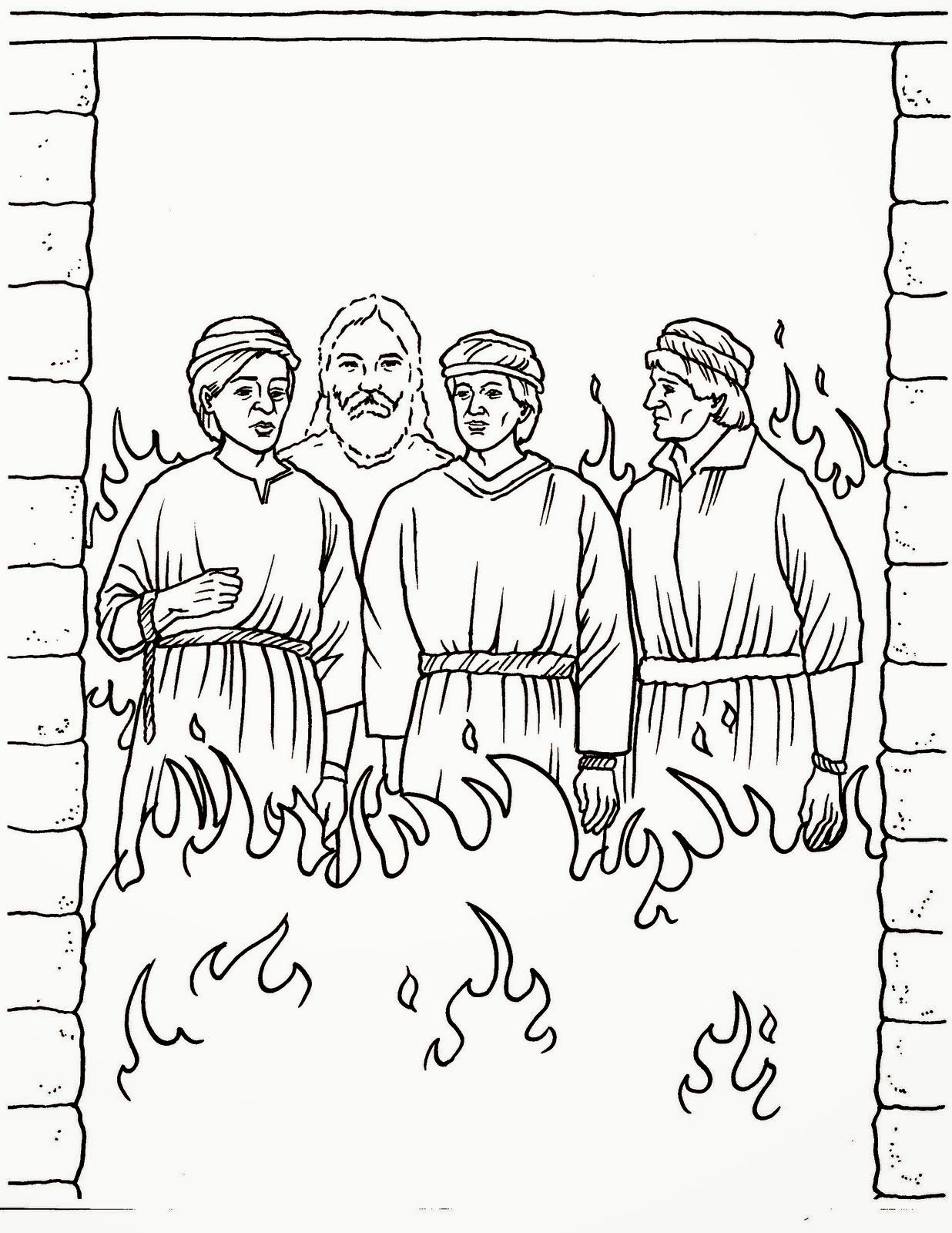 Daniel And Fiery Furnace Coloring Page   Crafting