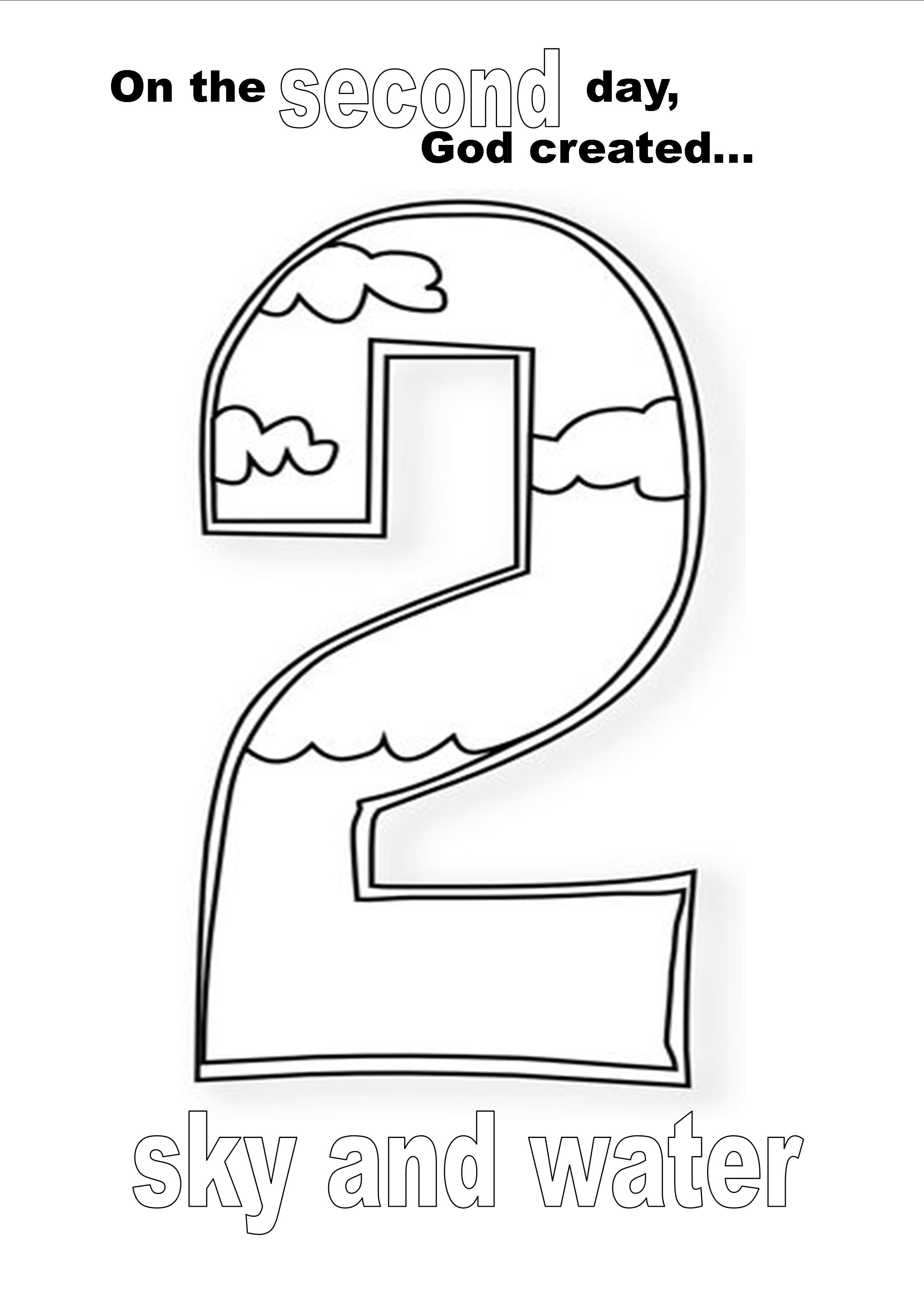 Creation Day Two Coloring Page | Kid Stuff | Creation
