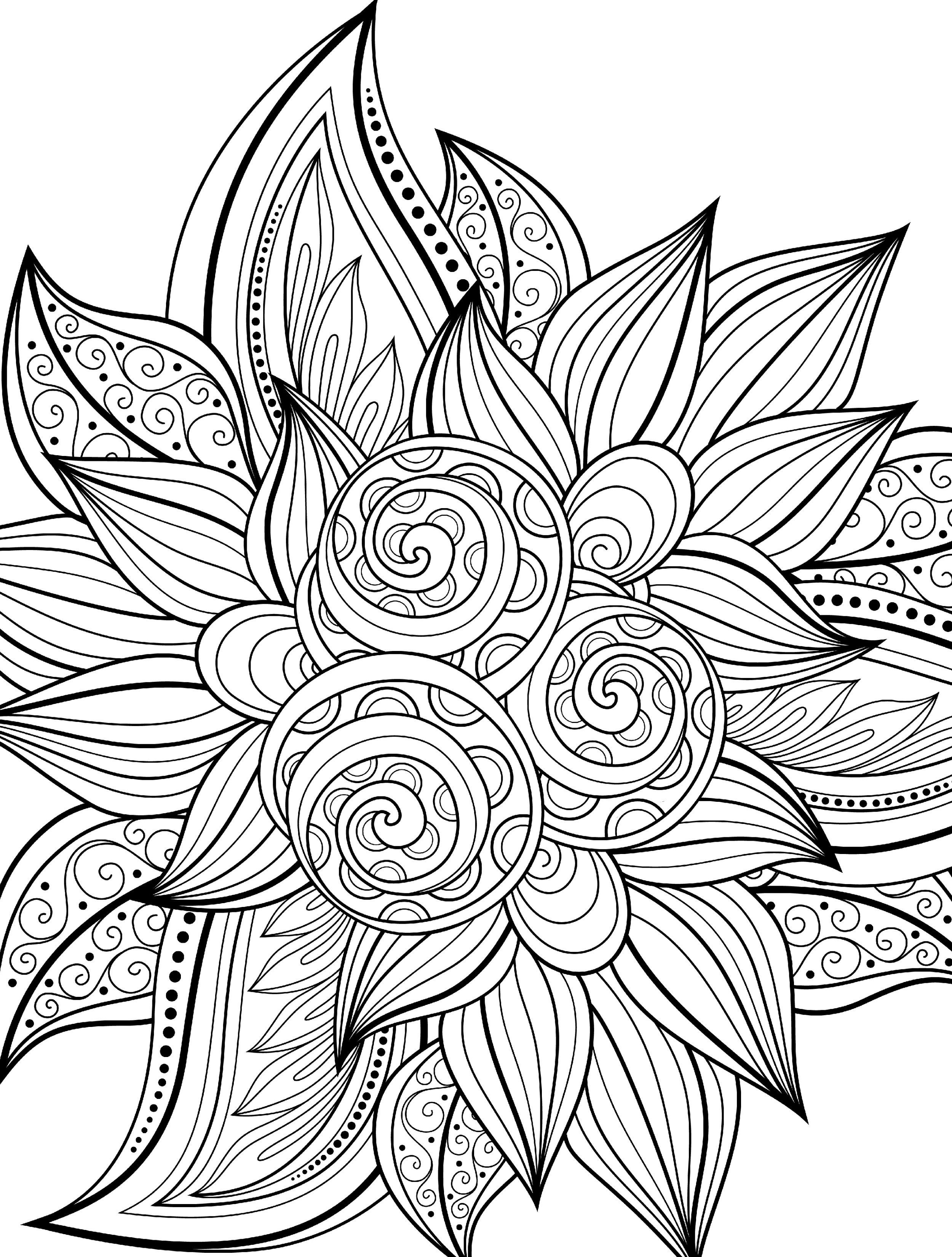 10 Free Printable Holiday Adult Coloring Pages   Coloring