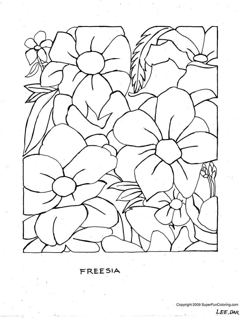 Free Printable Coloring Pages | Flower Coloring Pages