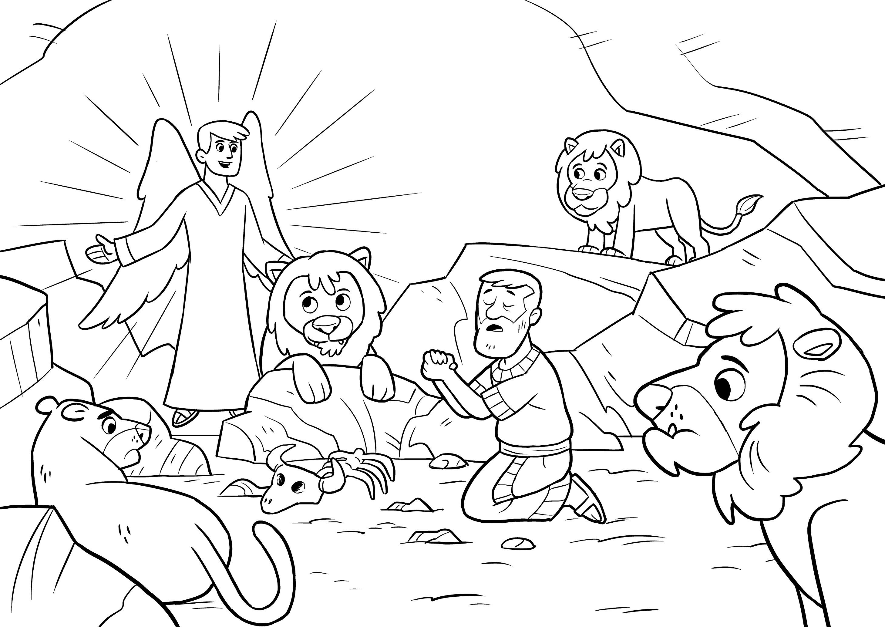 Inspiring Daniel In The Lions Den Coloring Page Terrific And