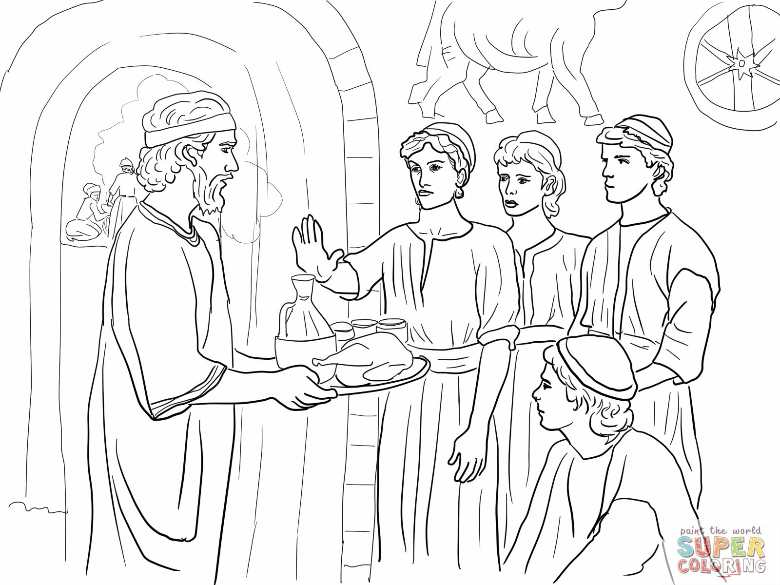 Daniel Chapter 1   Sunday School Ideas   Food Coloring Pages