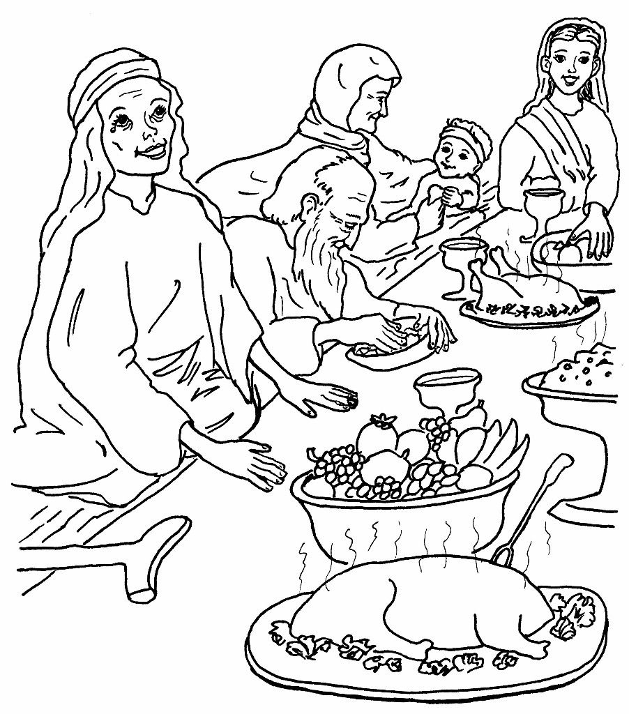 The Great Banquet Coloring Pages | Vbs 2014: Upside Down