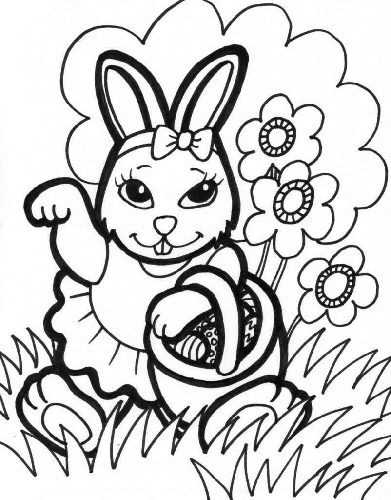 Free Printable Easter Bunny Coloring Pages For Kids | Easter