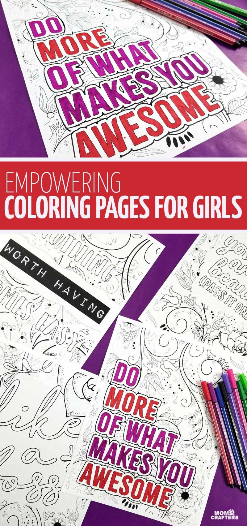 Color Some Empowerment! These Coloring Pages For Girls