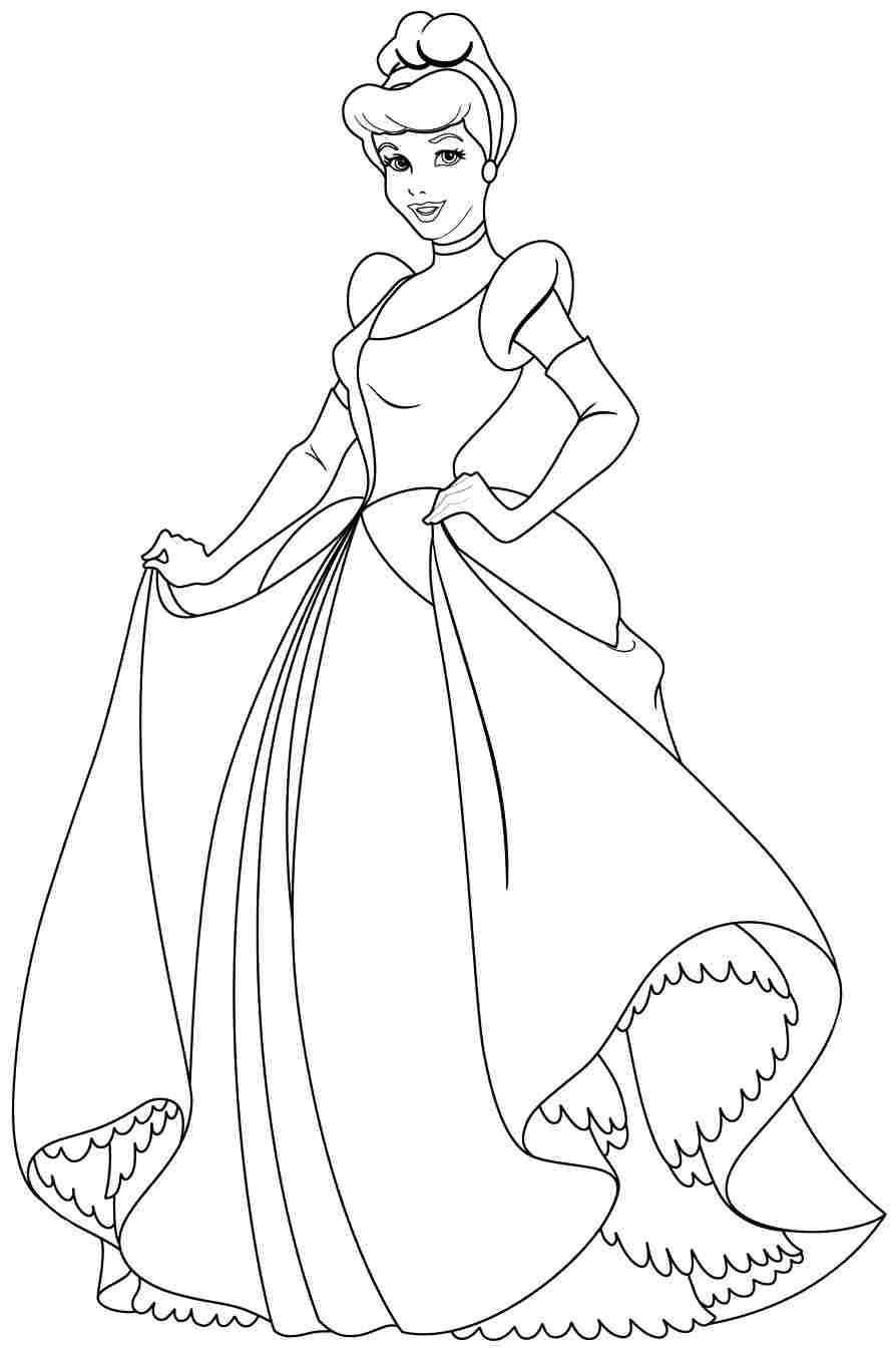 Free Coloring Pages Disney Princess Cinderella For Girls