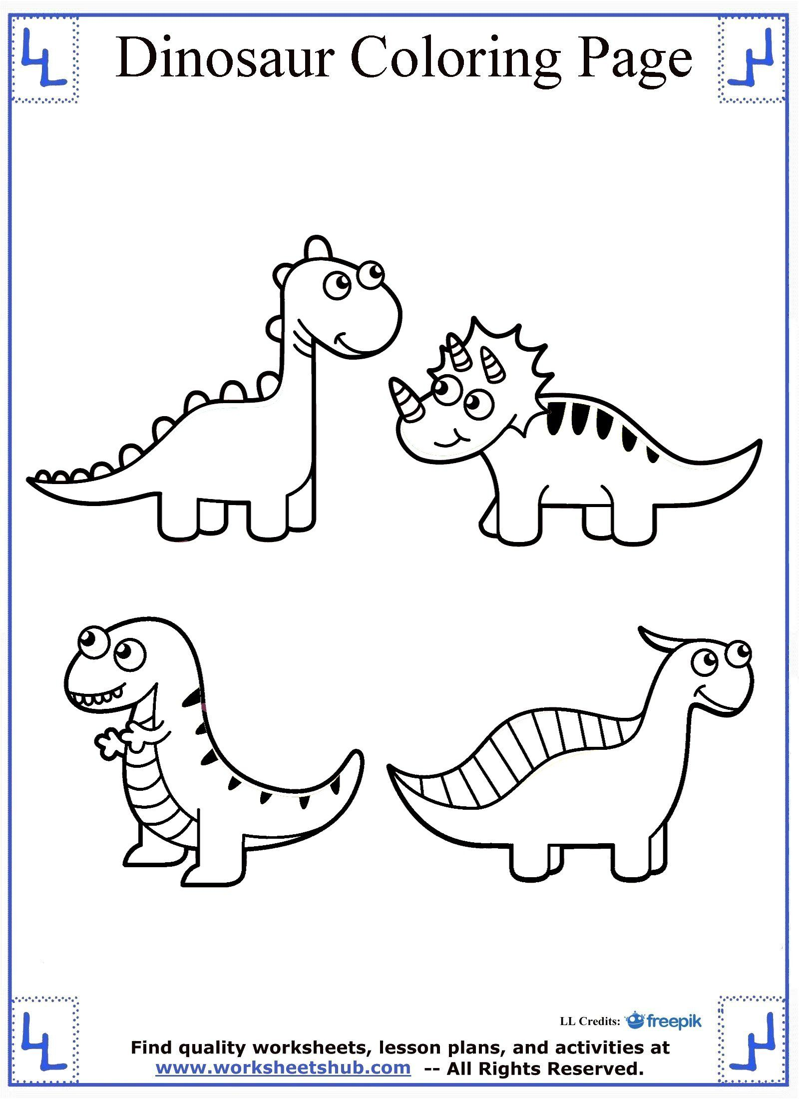Dinosaur Coloring Page Cute | Dinosaur Coloring Pages