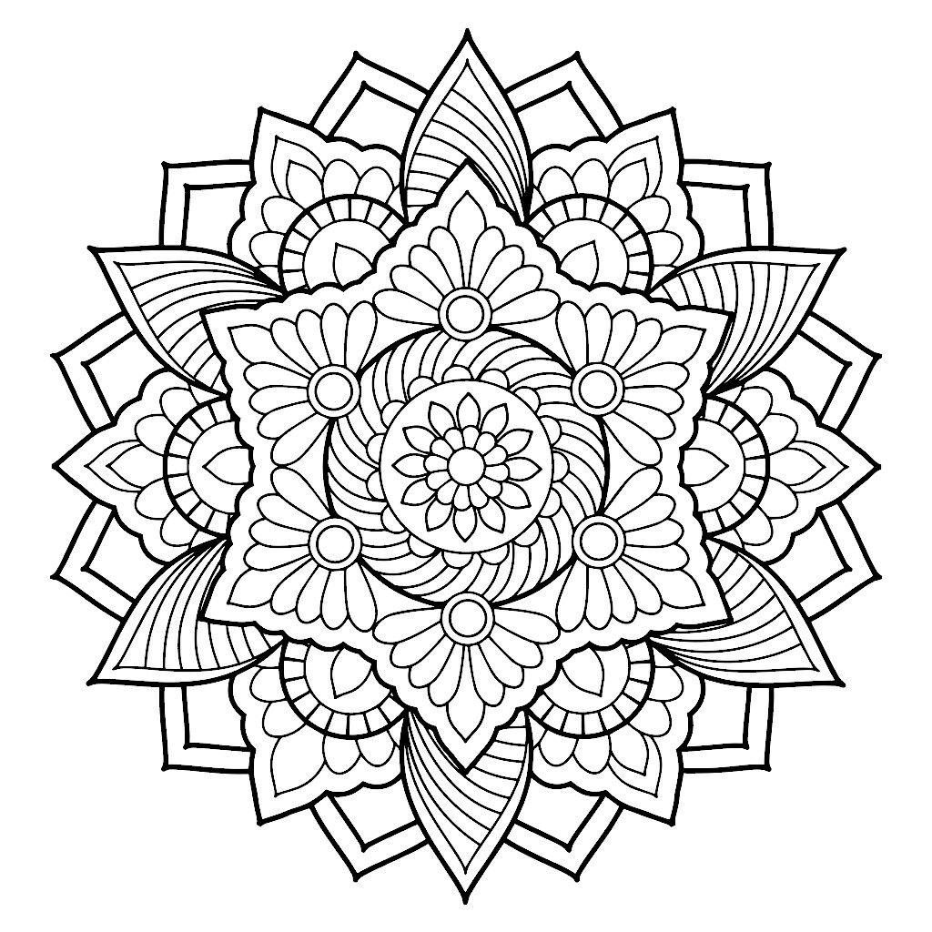 Pin By Loretta Lockerd On Coloring Mandala | Mandala