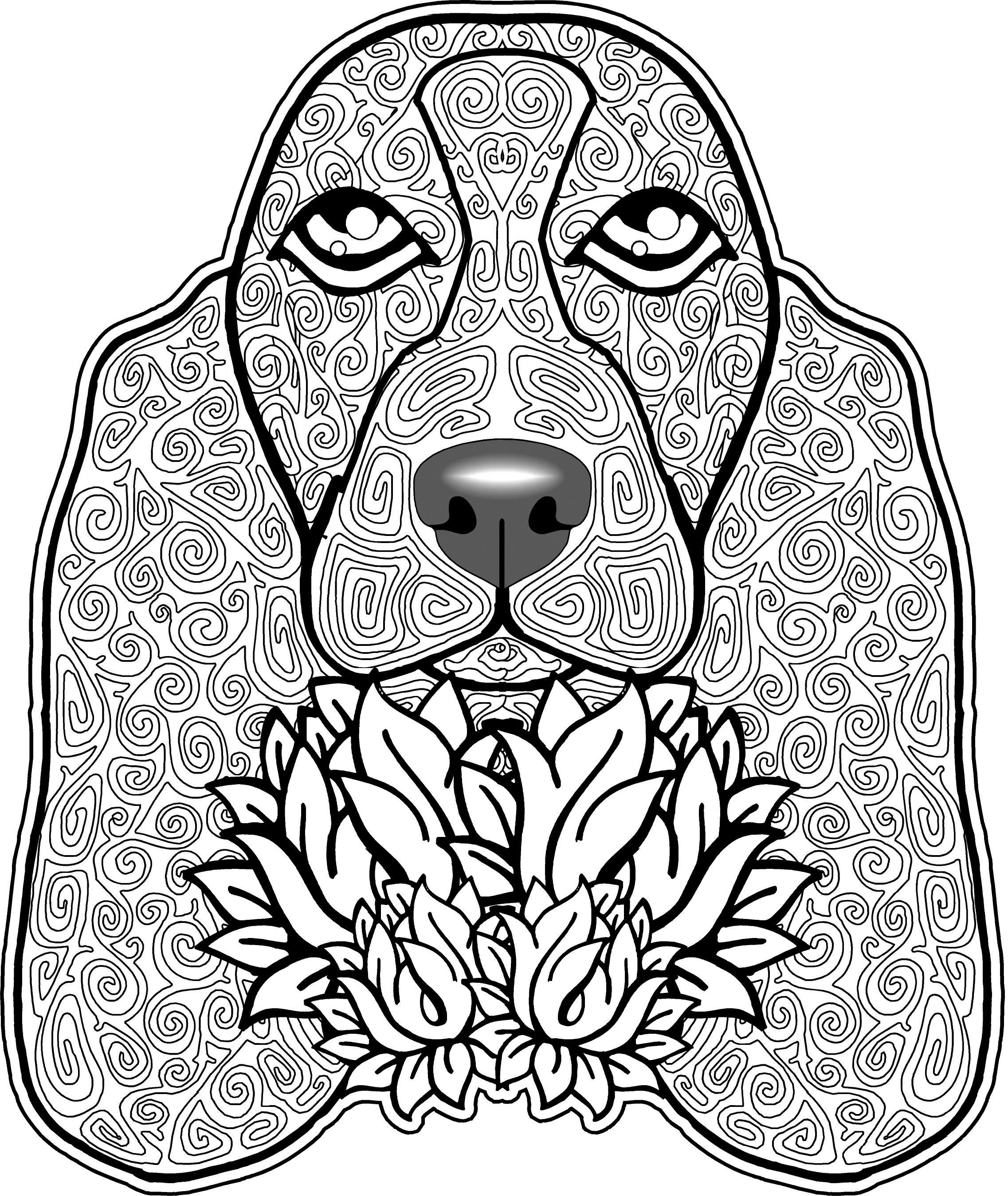 Dog Coloring Page, Dog Coloring Pages, Free Coloring Page