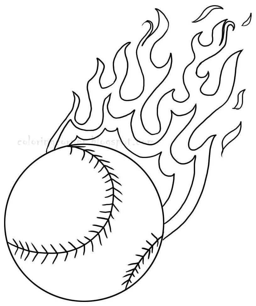 Baseball Coloring Pages | Baseball Coloring Pages | Patterns