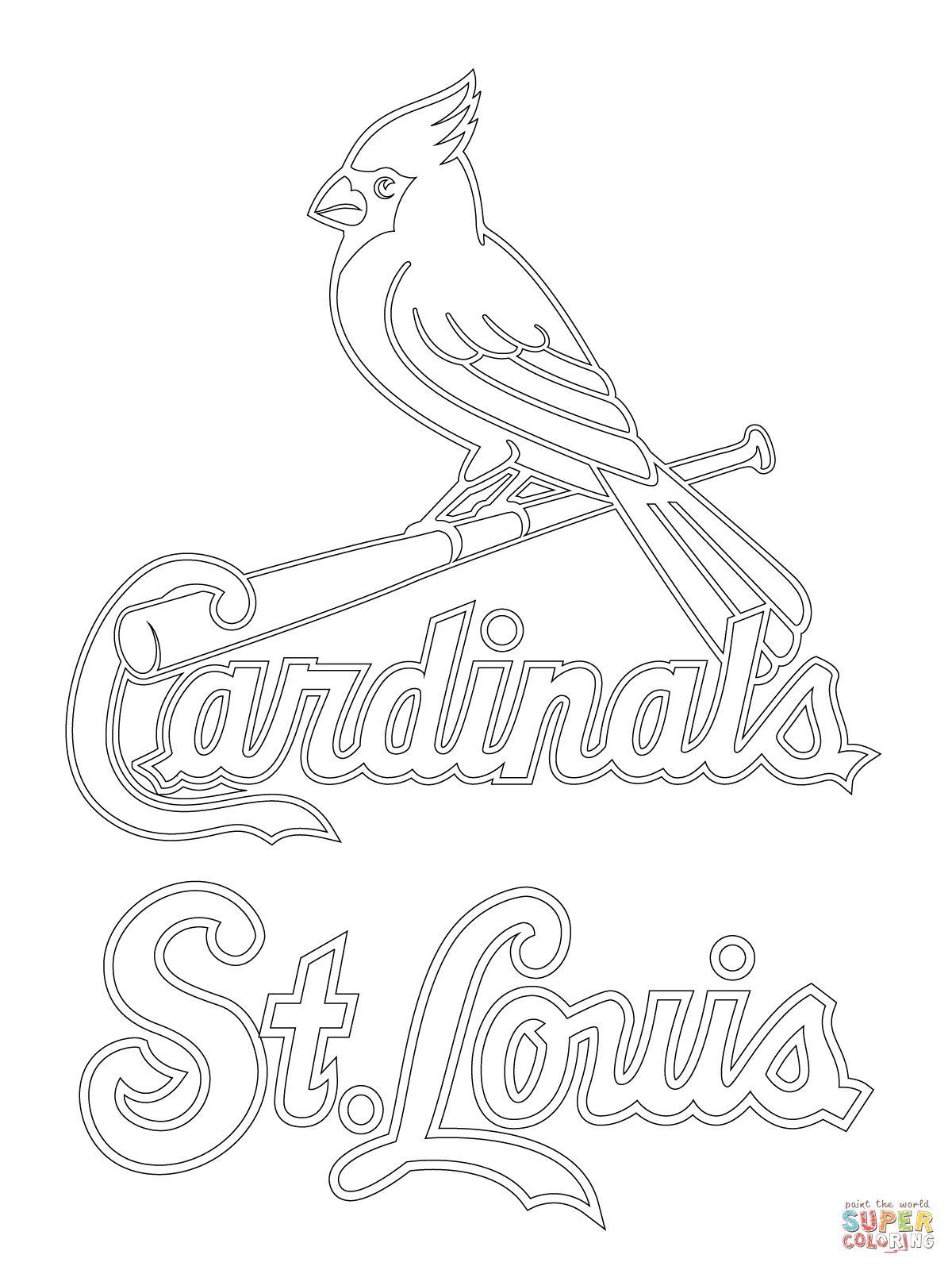 St Louis Cardinals Logo Coloring Page | Supercoloringcom