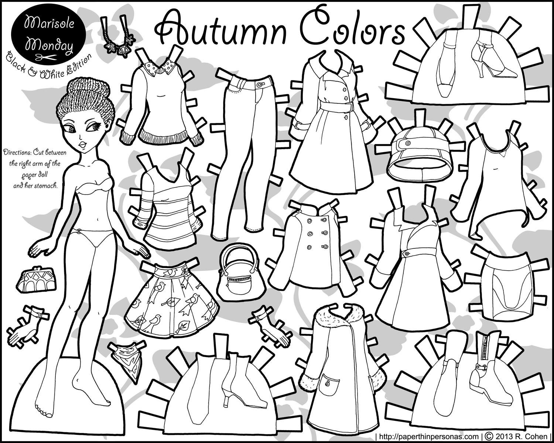 Marisole Monday: Autumn Colors | Coloring! | Paper Dolls