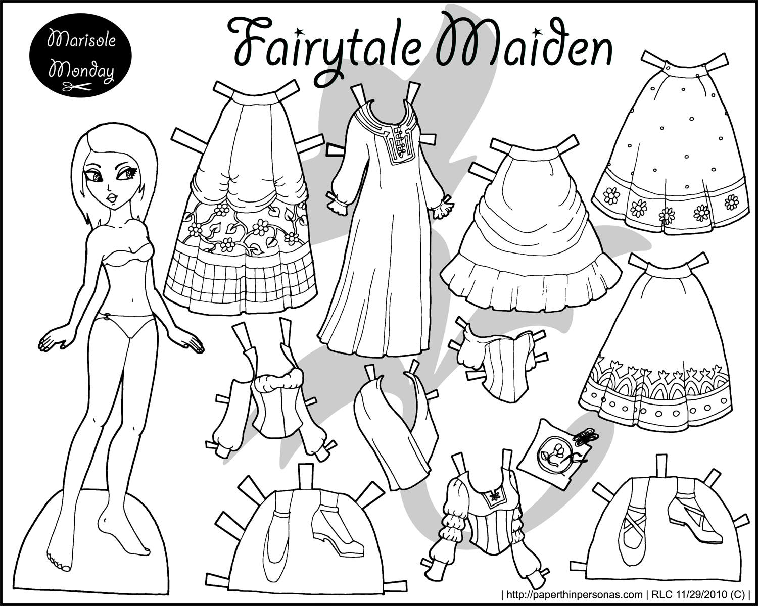 Four Princess Coloring Pages To Print & Dress | Coloring