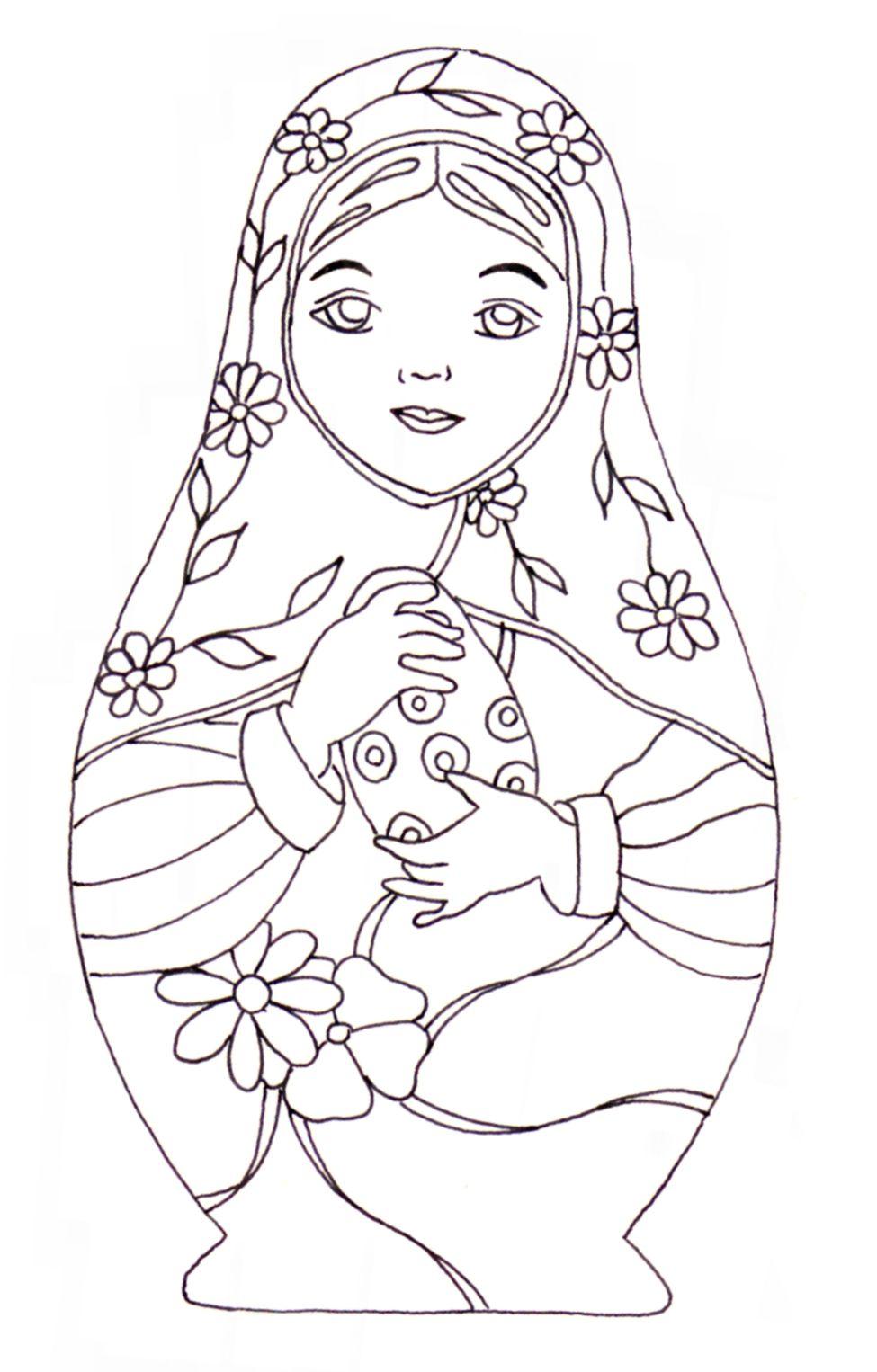 Matryoshka / Coloriage   Coloring & Doodles   Dibujos Para