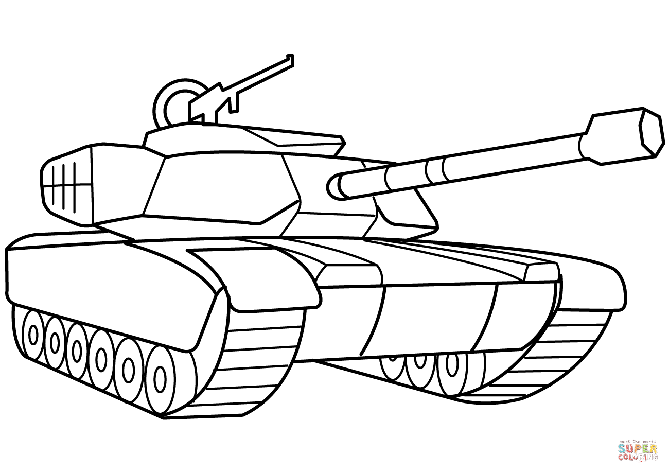 Pin By Get Highit On Coloring Pages | Tank Drawing, Coloring