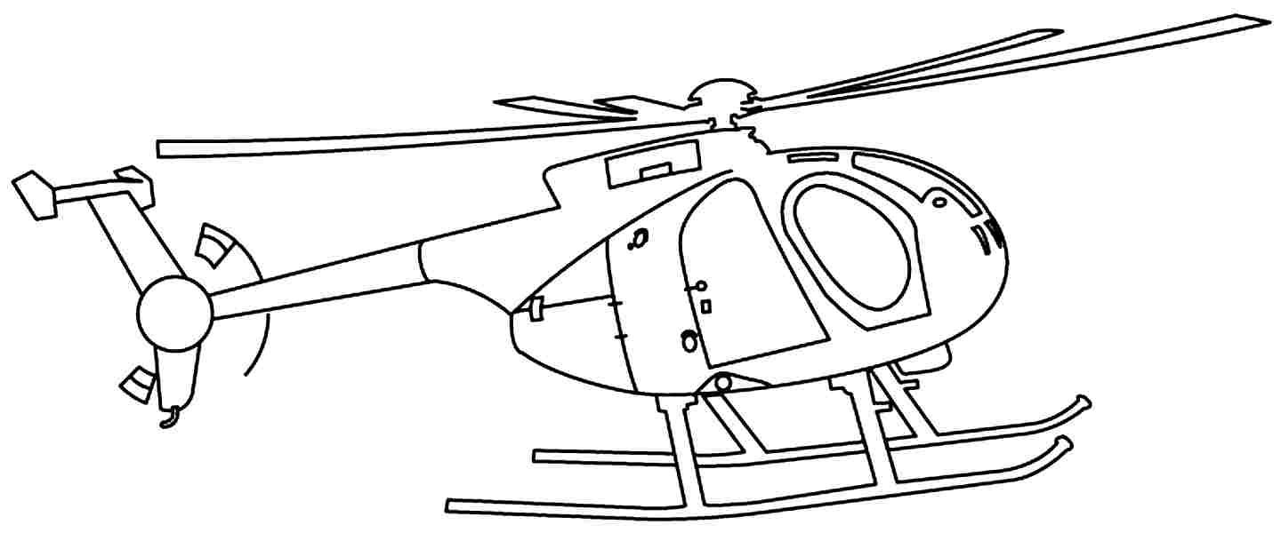 Helicopters With A Large Rotor Blades | Helicopters Coloring