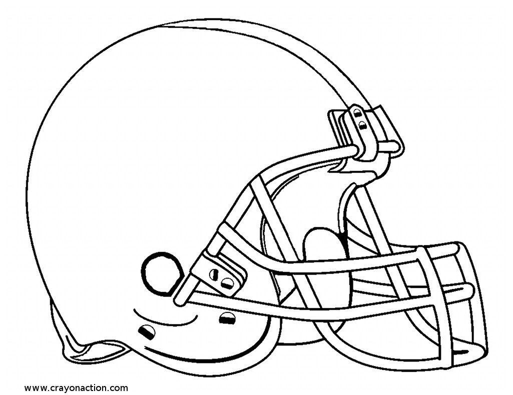 Football Helmet Coloring Pages 01 | Football Lockers