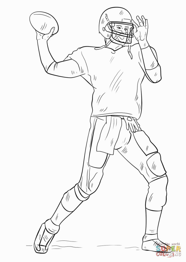 Football Player Coloring Pages | Coloring Pages | Football