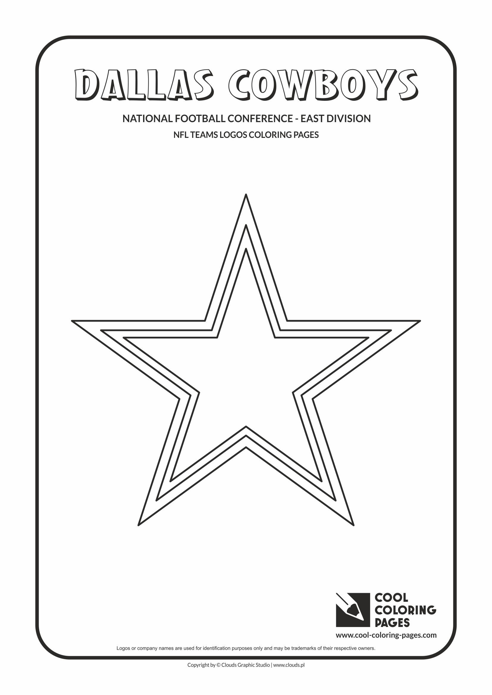 Cool Coloring Pages - Nfl American Football Clubs Logos