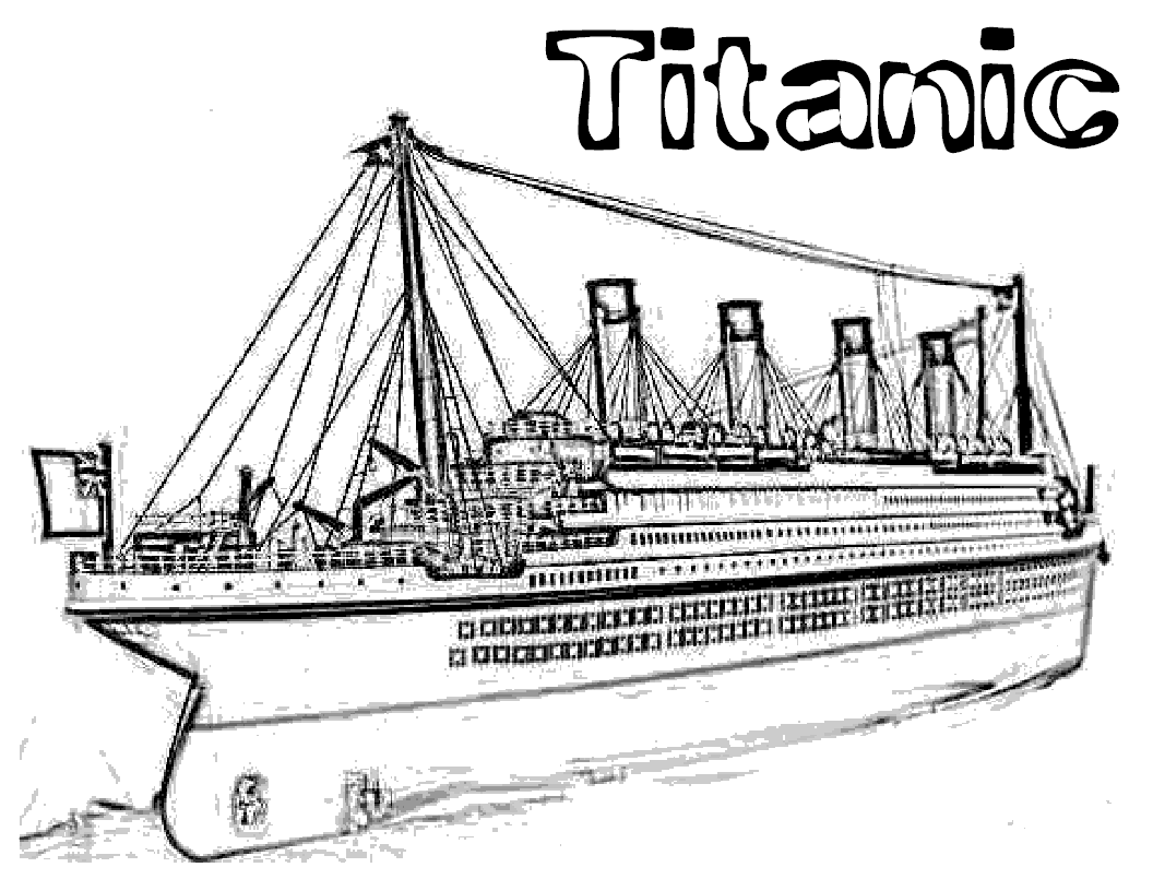 Titanic Coloring Pages | Titanic | Titanic, Coloring Pages